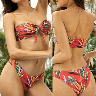 Maillot de bain populaire pour femmes en bikini imprimé fendu sexy en gros nihaojewelry NHHL225996's discount tags