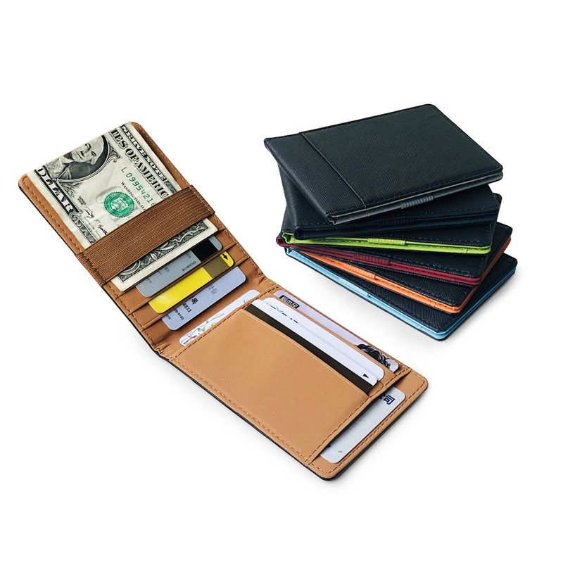 new Korean fashion US dollar clip mens leather wallet PU card bag elastic band small card bag wholesale nihaojewelry NHBN226158