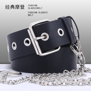new chain decoration pierced eye belt ladies fashion hanging chain with corn eye belt wholesale nihaojewelry NHPO226176's discount tags