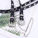 explosions stalls supply belt aireye decoration ladies fashion chain belt punk style belt women wholesale nihaojewelry NHPO226177