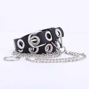 modèles d'explosion yeux plein corps évidé ceinture dames punk porter ceinture de chaîne femmes en gros nihaojewelry NHPO226181's discount tags