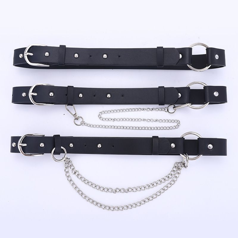 new punk style belt ladies fashion chain decoration trend with jeans belt wholesale nihaojewelry NHPO226182