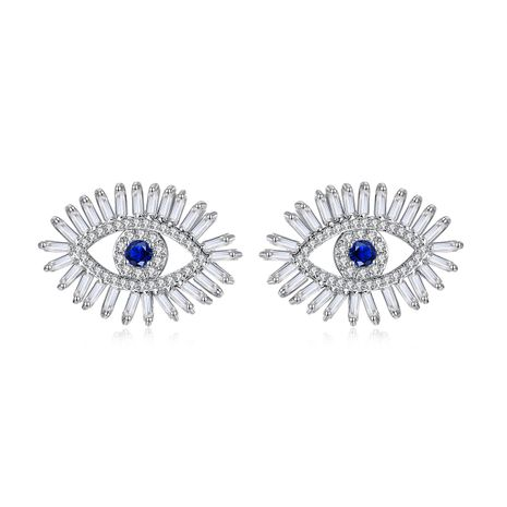 Eye Demon Ear Studs Exaggerated Fashion Earrings wholesale nihaojewelry NHTM226242's discount tags