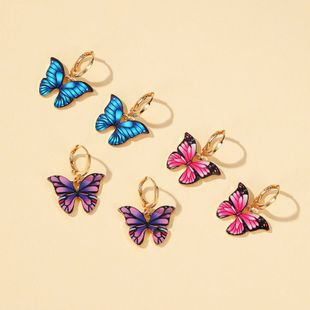 nuevos pendientes de mariposa de color pendientes de mariposa de sueño pendientes de venta caliente al por mayor nihaojewelry NHDP226256's discount tags