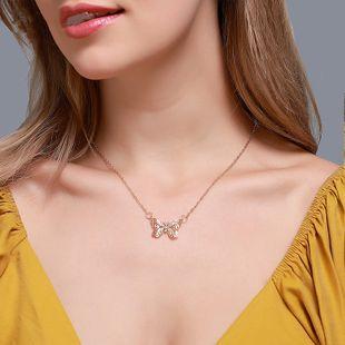 Collar de mariposa simple cadena de clavícula de mariposa pequeña y brillante micro diamante completo collar de señoras al por mayor nihaojewelry NHDP226266's discount tags
