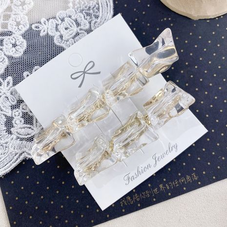 fashion acrylic clip cube hair clip bangs hairpin women's back card wholesale nihaojewelry NHSM226282's discount tags