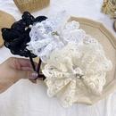 Korean lace pearl bow headband simple princess hair bundle ladies hair cave wash wholesale nihaojewelry NHSM226287