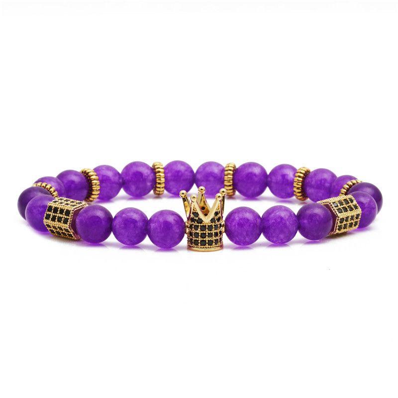 Hot Sale Frosted Amethyst Woven Beaded Bracelet wholesale nihaojewelry NHYL226480