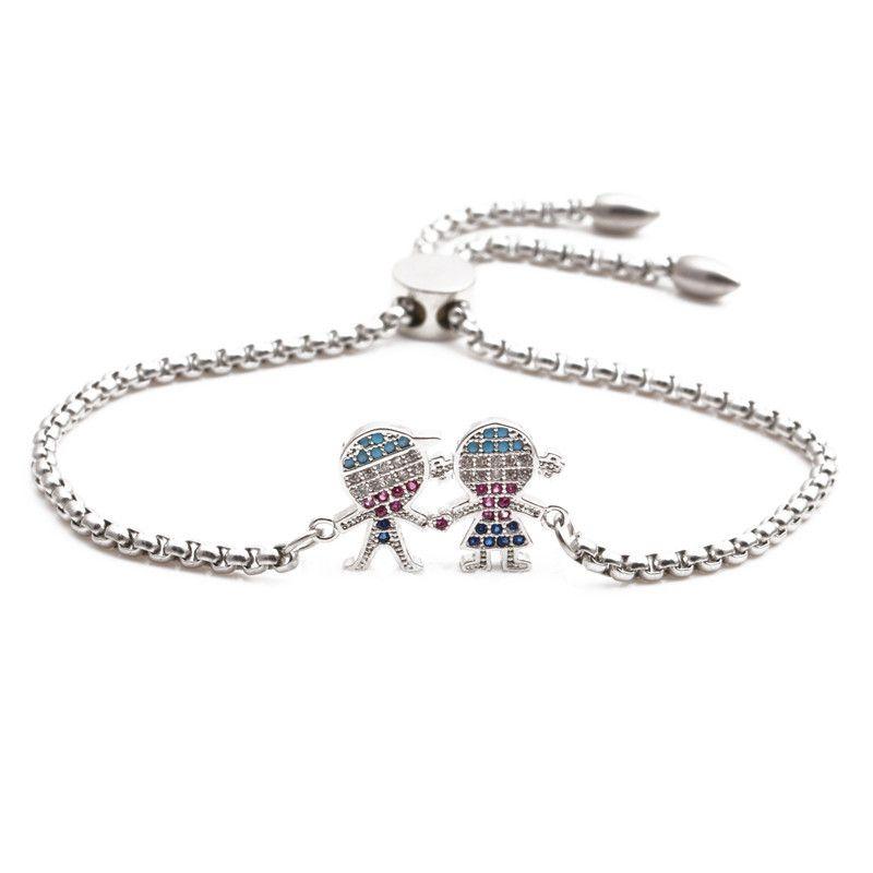 jewelry stainless steel chain devil's eye ladies adjustable bracelet wholesale nihaojewelry NHYL226511