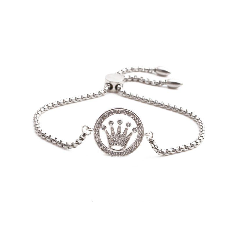 fashion jewelry stainless steel chain crown ladies adjustable bracelet wholesale nihaojewelry NHYL226526