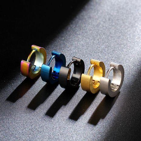 Pendientes de acero de titanio simples simples para hombres, joyería piercing al por mayor nihaojewelry NHIM226537's discount tags