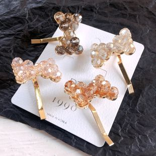 new crystal bow clip hair clip hair ornament headdress wholesale nihaojewelry NHHI226572's discount tags