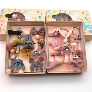 Children's Hair Accessories 10 Piece Set Korean Princess Set Gift Box Baby Hairpin Girls Headdress Children's Hairpin Clip NHSA226584's discount tags