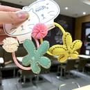Korean cute star sun flower small rubber band girl hair rope girl child hair ring wholesale nihaojewelry  NHSA226598