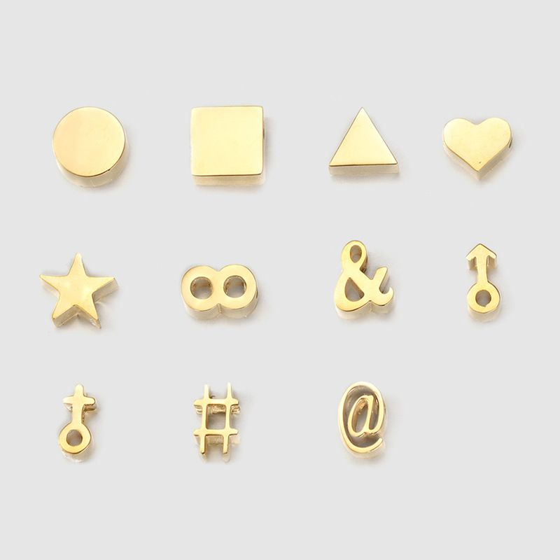 316L stainless steel jewelry DIY pendant creative new perforated symbol accessories wholesale nihaojewelry  NHTF226607