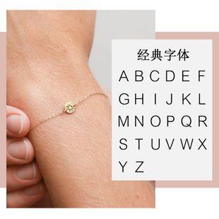 explosivos populares de acero inoxidable señoras pulsera moda simple joyería letras alfabeto pulsera al por mayor nihaojewelry NHTF226619's discount tags