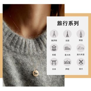 Korean new simple fashion short ladies clavicle 316L titanium steel necklace wholesale nihaojewelry NHTF226622's discount tags