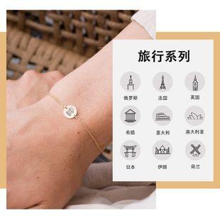 hot sale creative titanium steel bracelet fashion lettering adjustable ladies bracelet wholesale nihaojewelry NHTF226629's discount tags