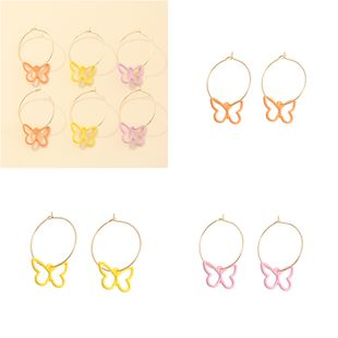 fashion solid color new color butterfly earrings wholesale nihaojewelry NHNZ226644's discount tags