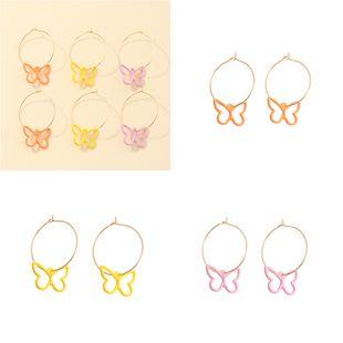 moda color sólido nuevo color mariposa pendientes al por mayor nihaojewelry NHNZ226644's discount tags