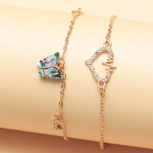 joyería popular luna nueva amor colgante mariposa salvaje tobillera venta al por mayor nihaojewelry NHNZ226645's discount tags