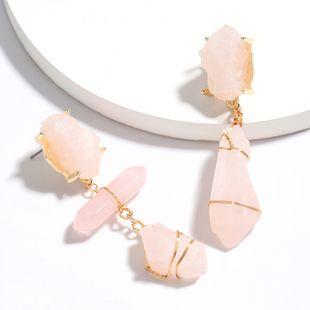 multi-layer original stone asymmetric earrings retro niche style earrings wholesale nihaojewelry NHJE226654's discount tags