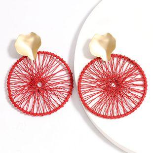 fashion creative alloy dream catcher earrings retro ethnic style earrings wholesale nihaojewelry NHJE226655's discount tags