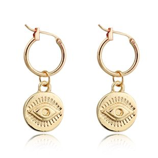 Pendientes de tendencia retro estilo nacional anillo del oído del diablo hebilla geométrica del oído venta caliente al por mayor nihaojewelry NHGO226660's discount tags