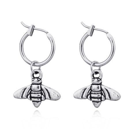 boucles d'oreilles punk rétro alliage abeille papillon insecte pendentif anneau d'oreille cerceau en gros nihaojewelry NHGO226668's discount tags
