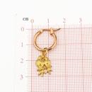 fashion alloy earrings cute couple bird animal pendant earrings hoop wholesale nihaojewelry NHGO226669