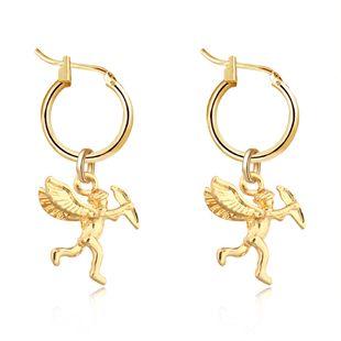 À la mode mignon en trois dimensions petit ange pendentif bague d'oreille or argent boucles d'oreilles en gros nihaojewelry NHGO226685's discount tags