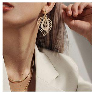 mode nouveau style simple boucles d'oreilles feuille sauvage en gros nihaojewelry NHCT226688's discount tags