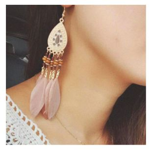 new exaggerated  earrings fashion simple drop-shaped earrings wholesale nihaojewelry NHCT226689's discount tags