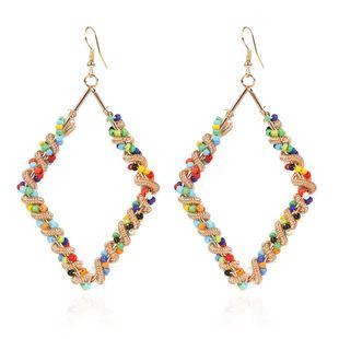 boucles d'oreilles sauvages de mode contraste couleur boucles d'oreilles géométriques en gros nihaojewelry NHCT226692's discount tags