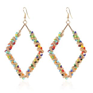 fashion wild earrings contrast color geometric earrings wholesale nihaojewelry NHCT226692's discount tags