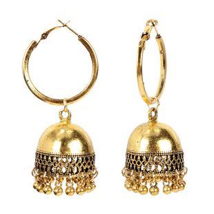 geometric bell earrings fashion simple alloy retro earrings wholesale nihaojewelry NHCT226698's discount tags