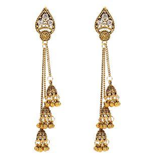 Retro ethnic style long tassel earrings boho earrings popular earrings wholesale nihaojewelry NHCT226699's discount tags