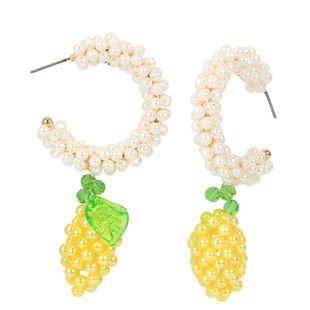 pendientes simples de estilo retro de aleación de diamantes pendientes de fruta al por mayor nihaojewelry NHCT226700's discount tags