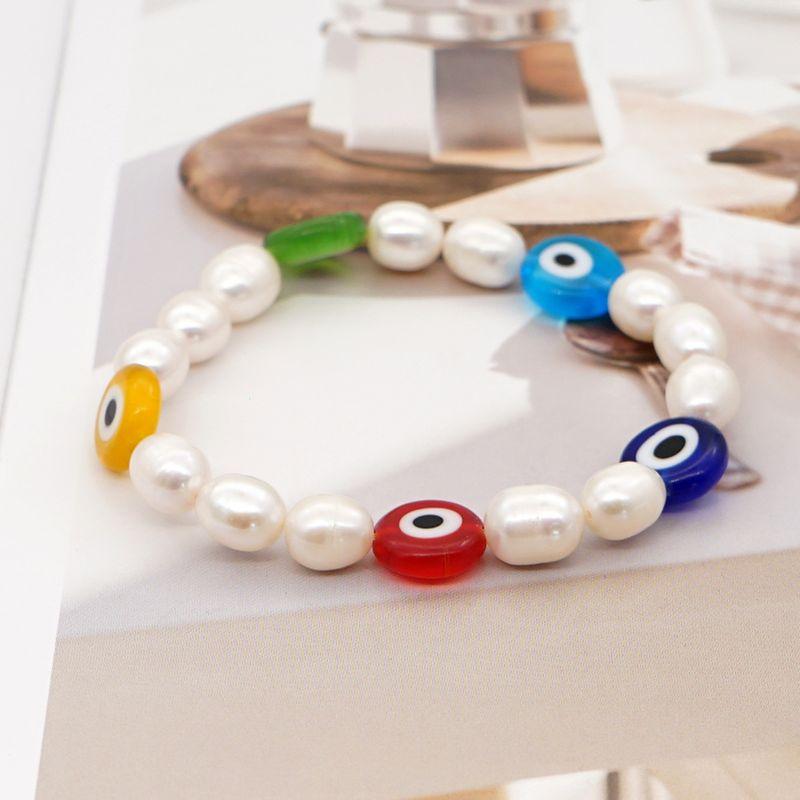 simple trendy fashion natural freshwater pearl bracelet original design ethnic style handmade jewelry wholesale nihaojewelry NHGW226705