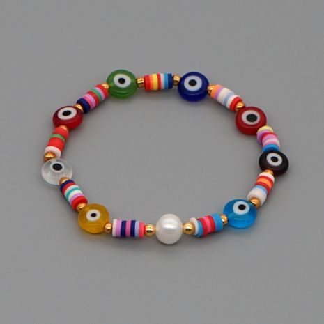 Simple fashion ethnic style bracelet woven natural pearl colored soft ceramic pieces handmade jewelry wholesale nihaojewelry NHGW226717's discount tags