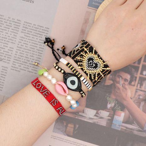 Miyuki rice beads woven bracelet love natural ethnic style handmade wholesale nihaojewelry NHGW226723's discount tags
