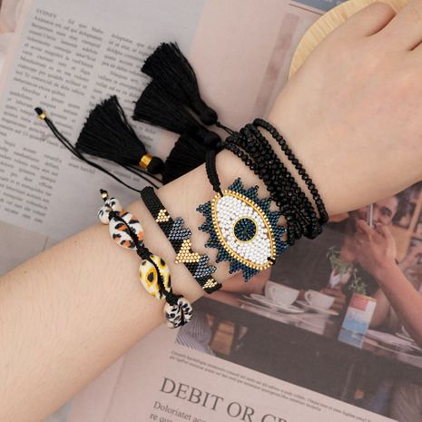 ethnic style bracelet natural Miyuki rice beads woven love letters handmade wholesale nihaojewelry NHGW226724's discount tags