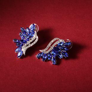 trend party earrings retro earrings irregular earrings diamond sapphire earrings wholesale nihaojewelry NHHS226726's discount tags