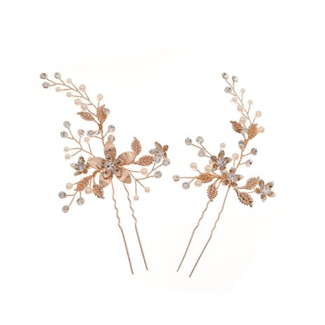design high-quality wedding accessories ancient style disc hairpin hand-made pearl pin wholesale nihaojewelry NHHS226728's discount tags