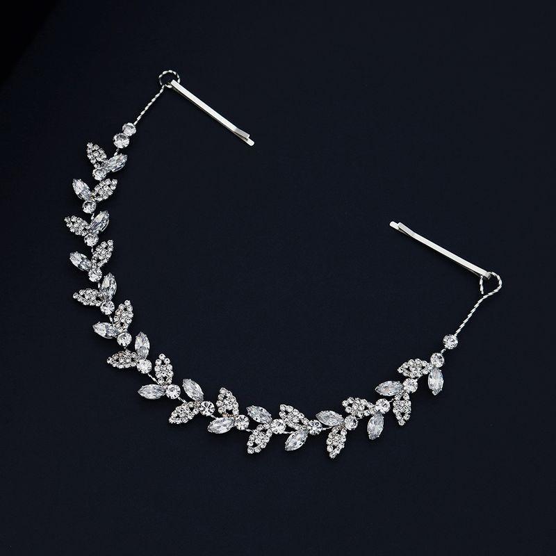 Korean high-quality zircon headband handmade crystal hair band wedding head jewelry wholesale nihaojewelry NHHS226730
