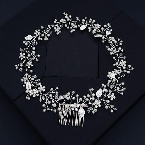 Coréenne mariée coiffure haut de gamme personnalisé à la main rond bandeau à la main perle style cheveux accessoires en gros nihaojewelry NHHS226732's discount tags