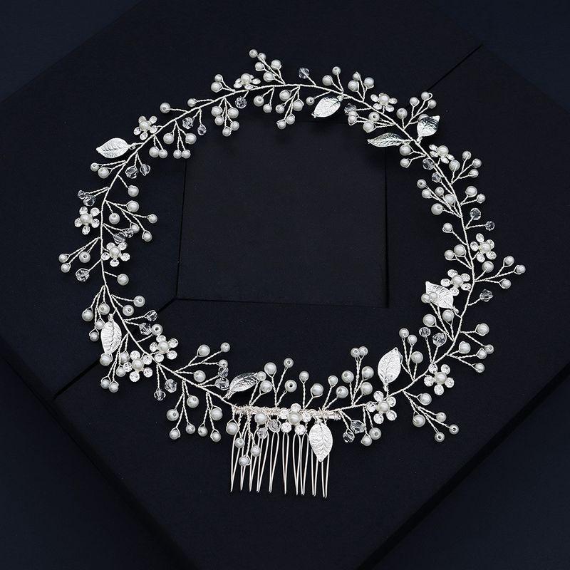 Corenne marie coiffure haut de gamme personnalis  la main rond bandeau  la main perle style cheveux accessoires en gros nihaojewelry NHHS226732