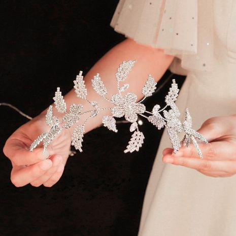high-end retro headband Baroque crystal plate hairband zircon bridal accessories wholesale nihaojewelry NHHS226735's discount tags