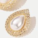 geometric drop pearl rhinestone earrings new trend crystal earrings wholesale nihaojewelry NHLA226747
