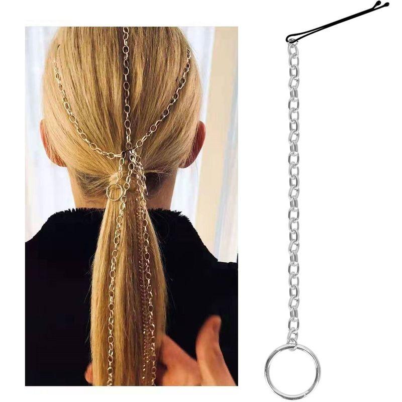 chain hair clips fashion headdress hair accessories tassel handmade word clip hair accessories NHCT226754